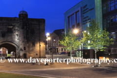 Spring, May, June,  De Montfort University campus ay night, Leicester City, Leicestershire, England; Britain; UK