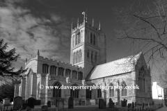 Autumn, October, November, St Marys church, Melton Mowbray town, Leicestershire, England; Britain; UK