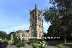 St Helens parish church, Ashby de la Zouch town, Leicestershire, England; Britain; UK