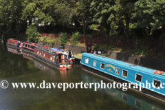 Narrowboat moorings, Grand Union Canal, Leicester City, Leicestershire, England; Britain; UK
