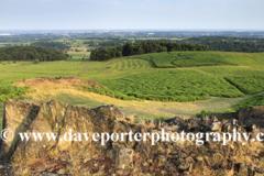 Summer landscape over Bradgate Park, Leicestershire, England; Britain; UK
