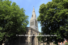 Summertime view of Leicester Cathedral, Leicestershire, England; Britain; UK