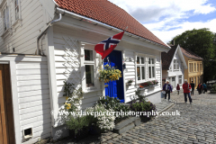 White wooden buildings in the Old Town (Gamle Stavanger), Stavanger town, Western Fjords, Norway, Scandinavia, Europe.The (Gamle Stavanger) are a collection of 18th and 19th century wooden homes.