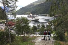 View of the town of Flam, Aurlandsfjorden Fjord, Sogn Og Fjordane region of Norway, Scandinavia, Europe.