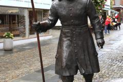 Bronze statue of a Viking, Stavanger City, Western Fjords, Norway, Scandinavia, Europe.