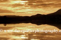 Sunset over Beinn Bhearnach, Loch Don, Isle of Mull