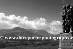 The Commando Memorial with Ben Nevis range