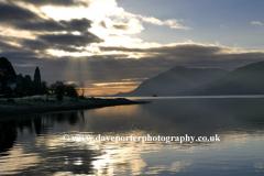 Sunset over Loch Linnhe Fort William
