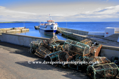 Ferry in the harbour, John O Groats