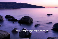 Dusk colours over Loch Buie; Isle of Mull
