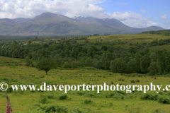 The Ben Nevis mountain range from Spean Bridge