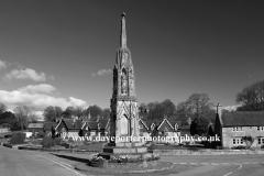 Stone memorial cross, village of Ilam