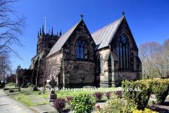 St Edwards church Leek town