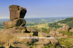 The Ramshaw rocks, view to Tittesworth reservoir
