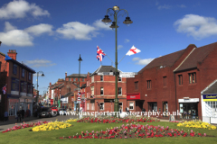 Flwer bed and Lampost,  market town of Leek
