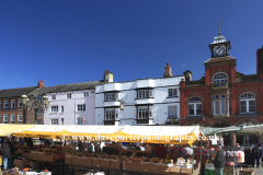 Market Stalls in the town of Leek