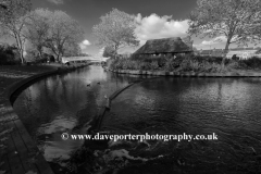 Victoria Park, and the river Sow, Stafford town