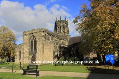 Autumn, St Marys church, Stafford town