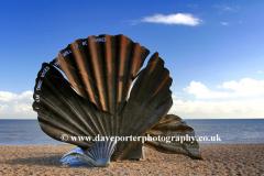 The Scallop Sculpture Aldeburgh Suffolk UK