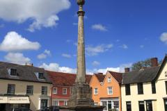 The market cross, Market square, Lavenham village, Suffolk County, England, Britain.