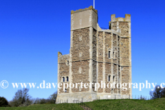 Summer view of the Norman Keep castle at Orford village, Suffolk County, East Anglia, England.