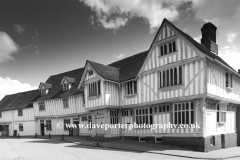 The Corpus Christi Guildhall, Market square, Lavenham village, Suffolk County, England, Britain. Built in the 16th century.