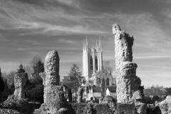 Bury St Edmunds Abbey, Abbey gardens, Bury St Edmunds City, Suffolk County, England
