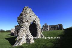 The ruins of Leiston Abbey near Aldeburgh in Suffolk County, England, Britain