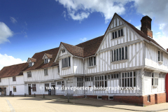 Summer, August, September, The Corpus Christi Guildhall, Market square, Lavenham village, Suffolk County, England, Britain. Built in the 16th century.