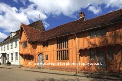 Summer, August, September, Little Hall Market square, Lavenham village, Suffolk County, England, Britain.