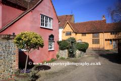 Colourful Cottages, Lavenham village, Suffolk, England UK