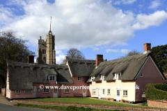 Spring, April, May, Parish church of St Marys, Cavendish village, Suffolk County, England, Britain.