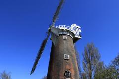 Summer, Buttrum's Mill, restored windmill, Woodbridge town, Suffolk County, England, Britain