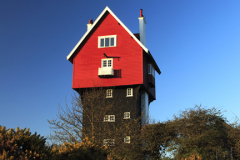 """The old water tower known as the """"Red House in the Clouds"""", Thorpeness village, Suffolk County, England, UK"""