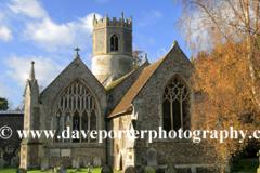 St Mary's church, Rickinghall village, Suffolk, England, UK