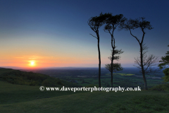 Sunset over Chanctonbury Ring, South Downs