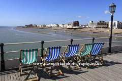 Deckchairs on the Victorian Pier, Worthing town