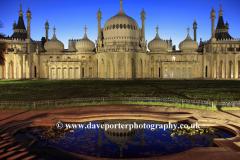 Dusk at Brighton Pavilion, Brighton City