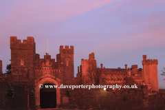 Winter sunset, Arundel castle
