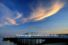 Dramatic Sunset clouds over Brighton Pier