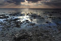 Dawn clouds over the beach, Shoreham-By-Sea