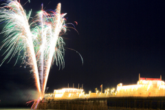 Fireworks over the Victorian Pier, Worthing town