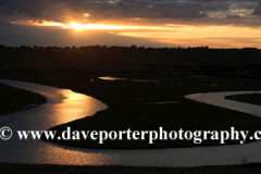 Sunset, Ox Bow river meander, Cuckmere River Haven