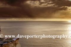 Winter dawn, the cliffs and Beachy Head Lighthouse