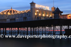Dusk colours over the Brighton Palace Pier