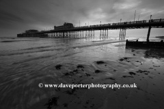 Sunset over the Victorian Pier, Worthing town