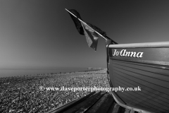 Fishing boats on the beach at Worthing