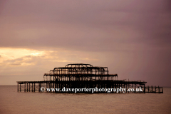 Stormy skies over the Brighton West Pier