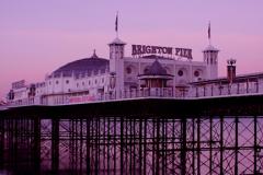 Dawn colours over Brighton Palace Pier