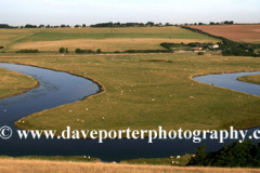 Ox Bow river meander, Cuckmere River Haven